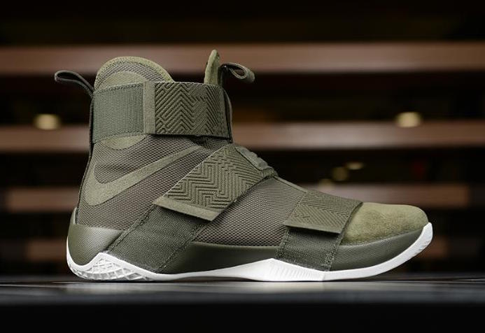 nike lebron soldier 10 gold green