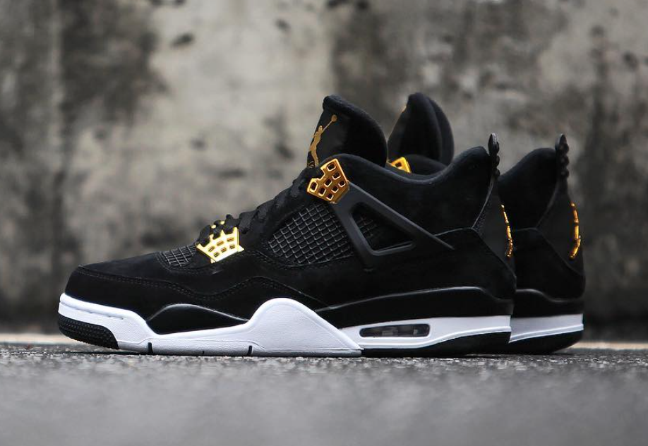 b82a25070eebb6 Air Jordan 4 Royalty Black Gold Release Date - Sneaker Bar Detroit