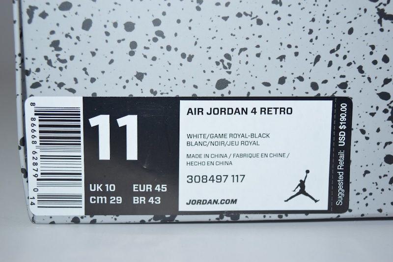 Nike Air Jordan 4 Retro Motorsport 308497-117