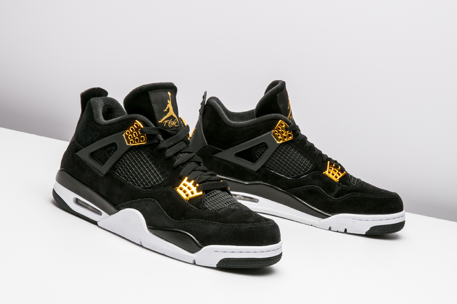 2ee9c4dad50 Air Jordan 4 Royalty Black Gold Release Date - Sneaker Bar Detroit