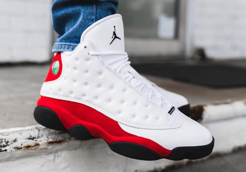 Air Jordan 13 OG White Red On Feet