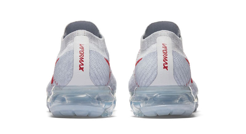 Nike Air VaporMax Flyknit Pure Platinum University Red