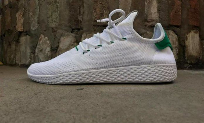 save off 89d78 c5a08 Pharrell adidas Stan Smith HU Human Race White Green. Pharrell and adidas  Originals looks ...