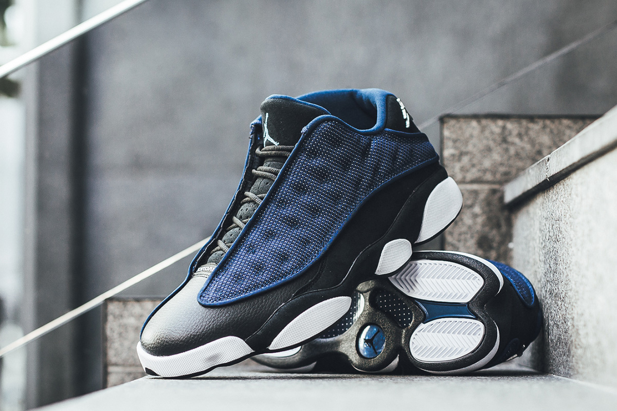 310810 407 05 Air Jordan 13 Retro Low Brave Blue/Black