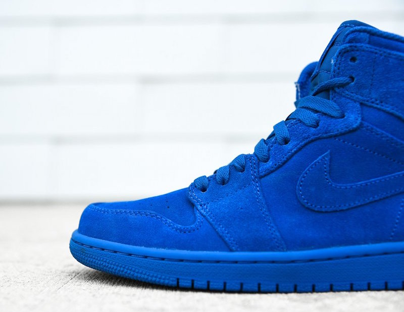 77a7d138e78b12 Air Jordan 1 Blue Suede 332550-404 - Sneaker Bar Detroit