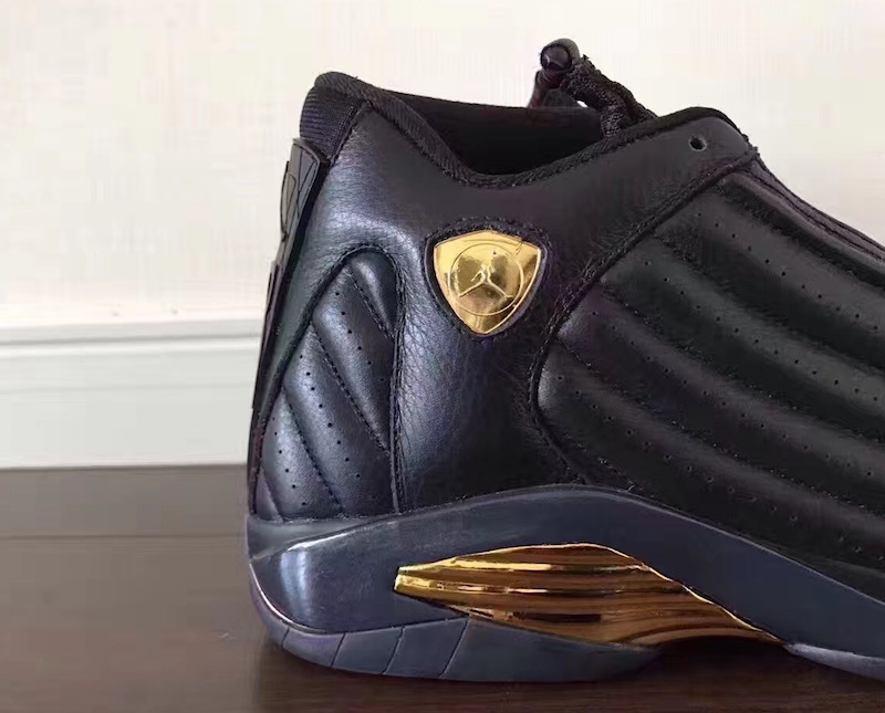 DMP Air Jordan 14 Black Gold Red 487471-022