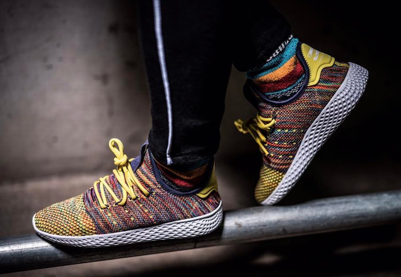 buy online 7f0b7 be83f Pharrell adidas Human Race Multicolor Mexican Blanket - SBD