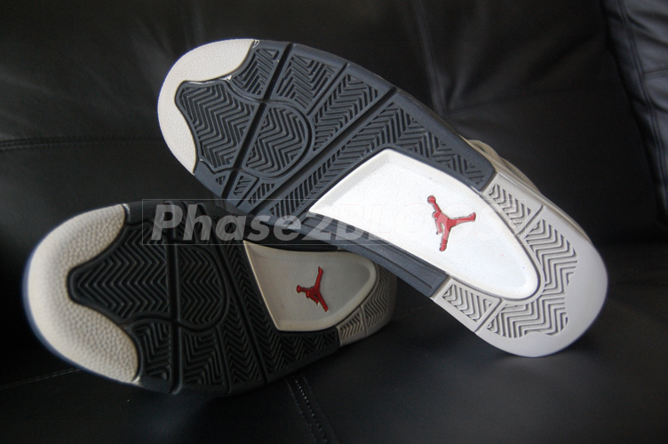 Air Jordan 4 Sample 2006 White Grey Black Red