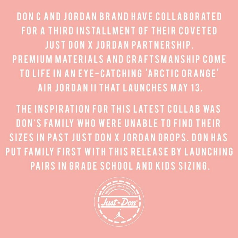 Just Don Air Jordan 2 Arctic Orange Release Date