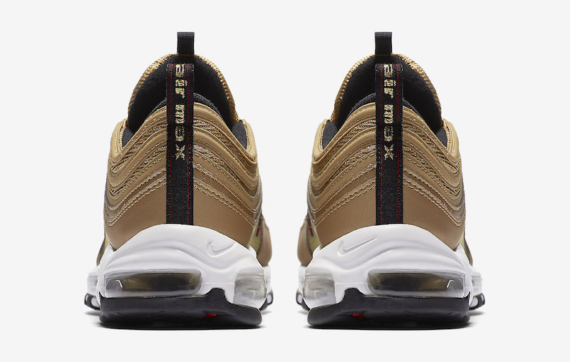 Nike Air Max 97 Metallic Gold 884421-700 Release Date Heel