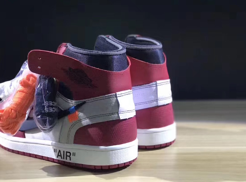 OFF-WHITE Air Jordan 1 AA3834-101 Heel