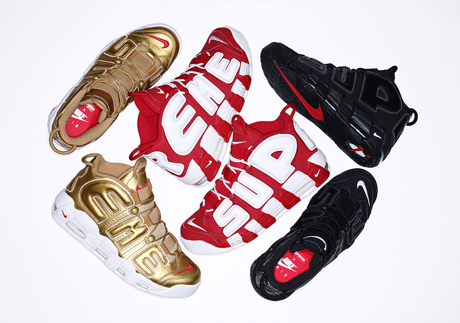 factory price 757b6 02ead Supreme x Nike Air More Uptempo Collection Releases Tomorrow