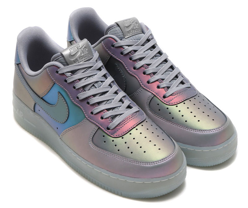 competitive price ff522 3b821 Nike Air Force 1 07 LV8 Iridescent Pack Release Date Anthracite