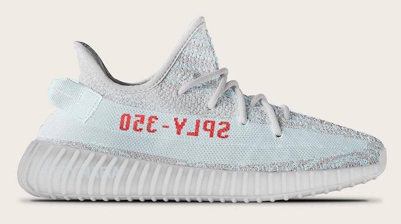 adidas Yeezy Boost 350 V2 Blue Tint Grey Red