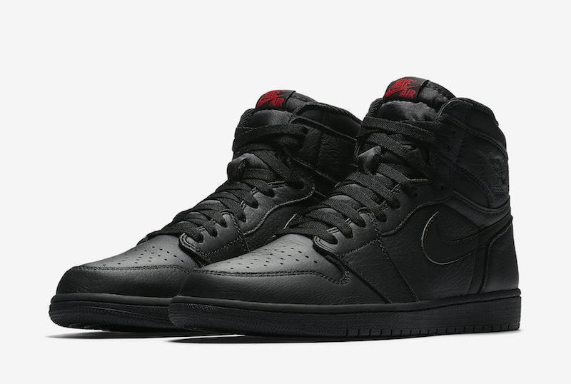 air jordan 1 og triple black red release date sneaker
