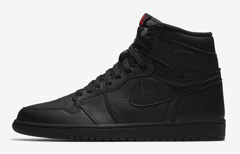 size 40 0af5a 095aa Air Jordan 1 OG Triple Black Red Release Date - Sneaker Bar ...