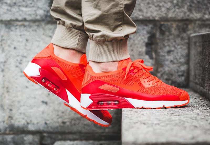 "e726abe5bf9a4 Nike Air Max 90 Ultra 2.0 Flyknit ""Bright Crimson"""