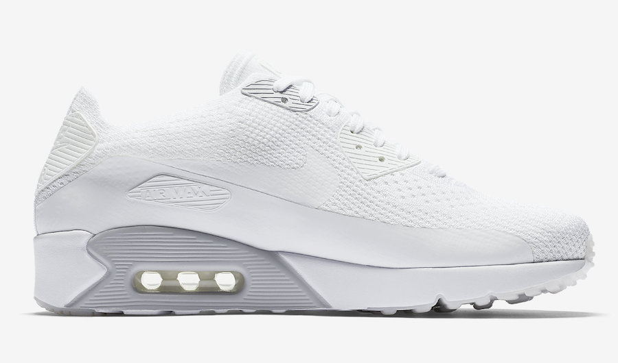 hot sales 18008 bbee9 Nike Air Max 90 Ultra 2.0 Flyknit Pure Platinum - Sneaker ...