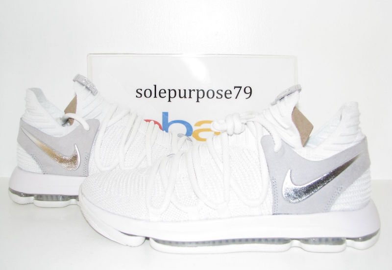 best service 403a5 aa205 Nike KD 10 White Chrome 897815-100 Release Date