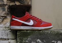 Nike SB Dunk Low Red Gum