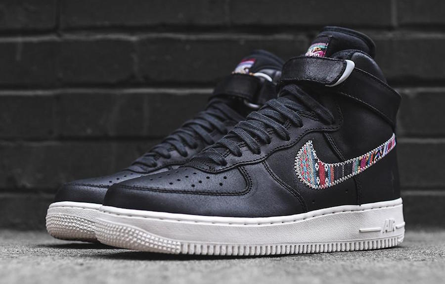 Nike Air Force 1 High Afro Punk Black White Sneaker Bar