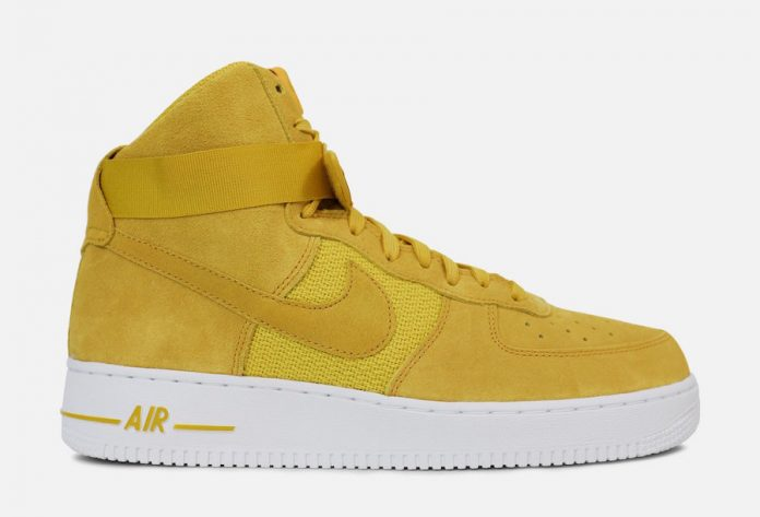 sale retailer 35397 f3c33 Nike Air Force 1 High University Gold 315121-700