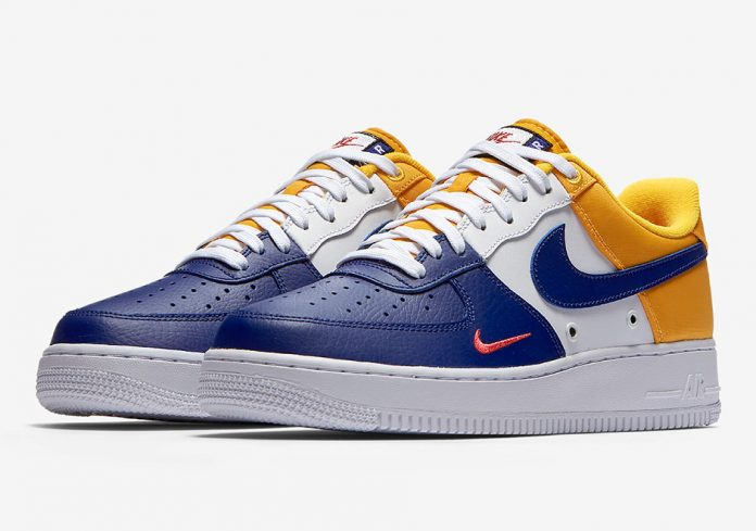 Nike Air Force 1 Low Mini Swoosh FC Barcelona Color Deep Royal  BlueUniversity