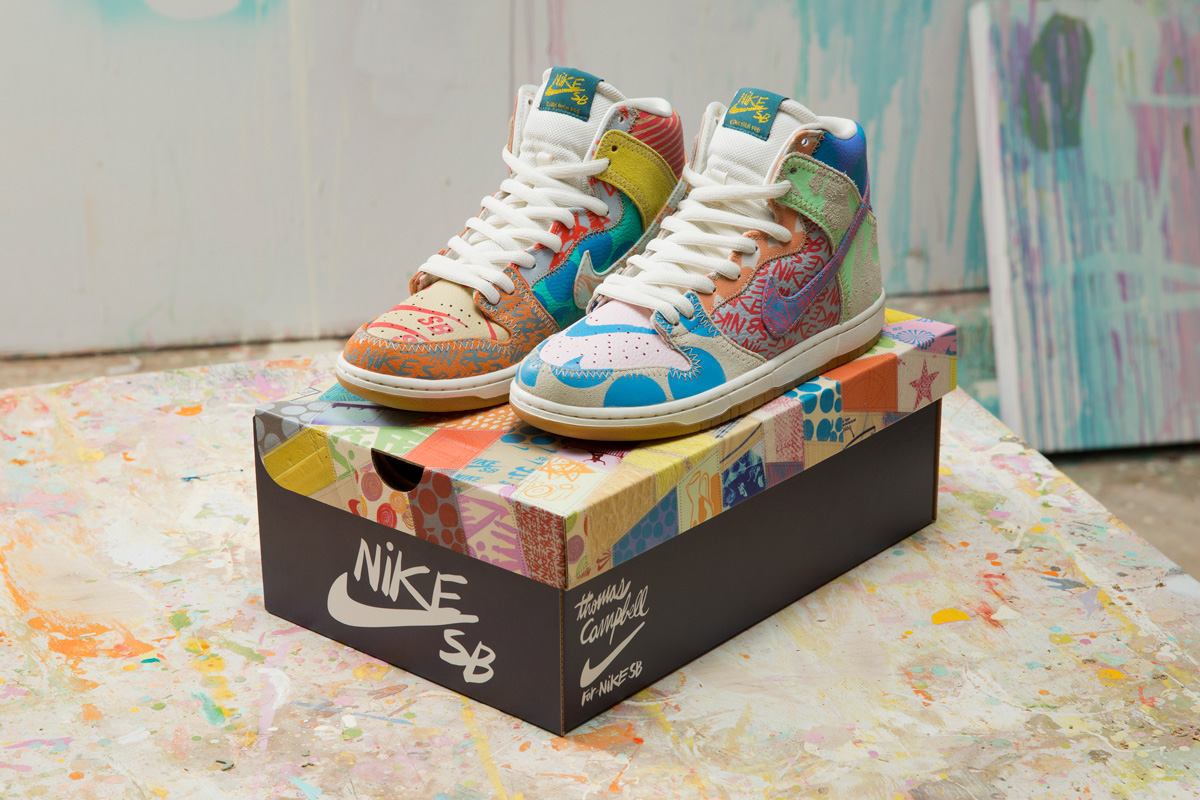 Thomas Campbell x Nike SB Dunk High What The Box