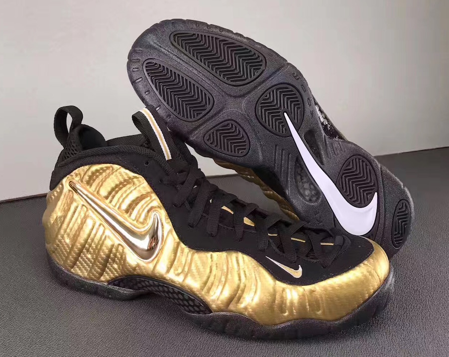 Nike Air Foamposite Pro Metallic Gold Black 624041-701