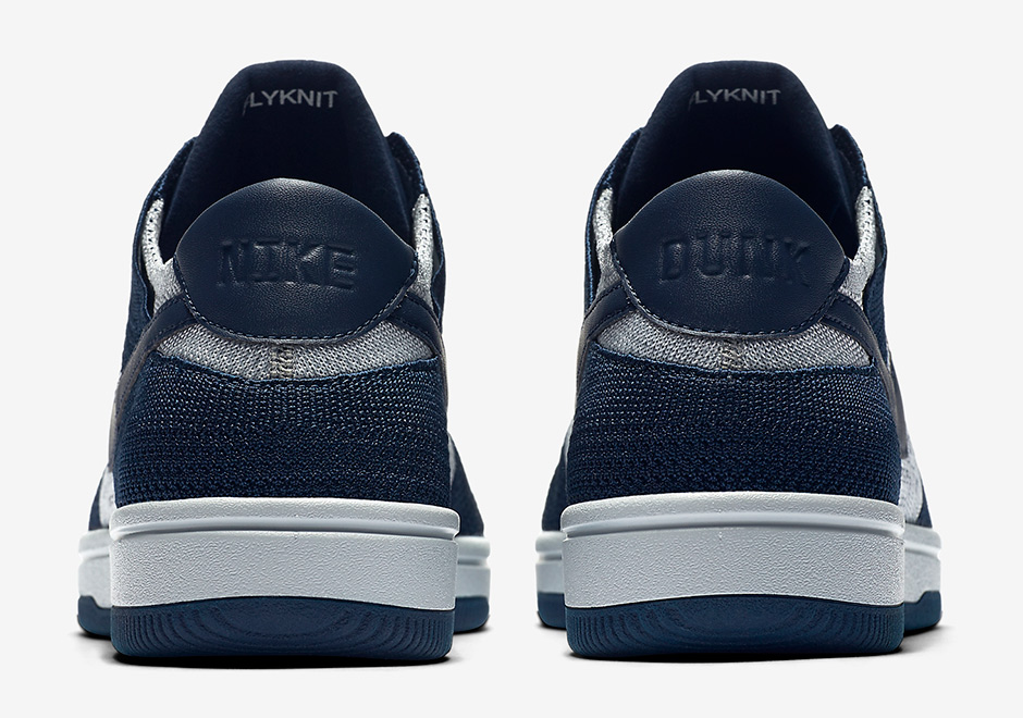 Nike Dunk Low Flyknit College Navy Wolf Grey 917746-400