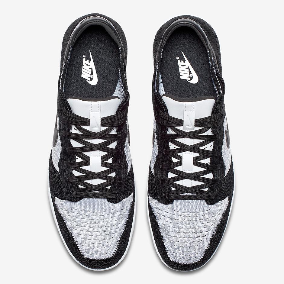 Nike Dunk Low Flyknit White Black 917746-100
