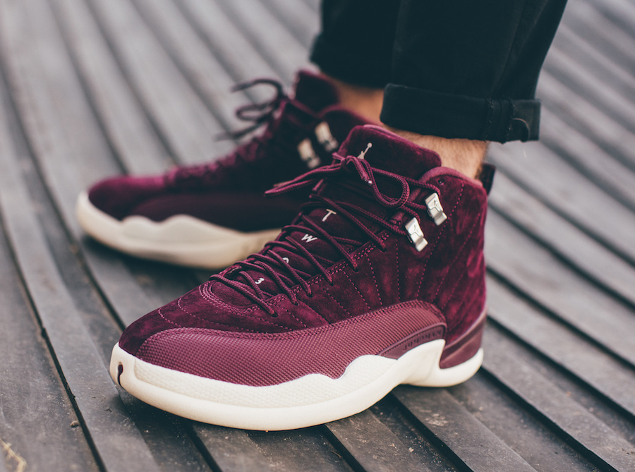 Air Jordan 12 Bordeaux On-Feet