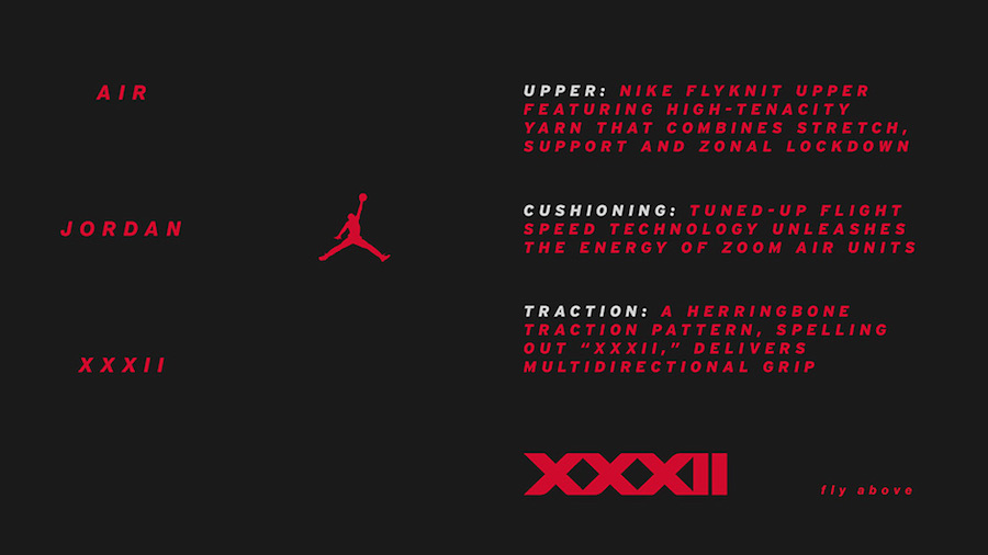 Air Jordan 32 Tech Sheet