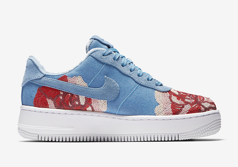 Nike Air Force 1 Low Floral Sequin 898421-402