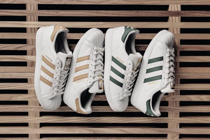 uk availability 6c2ca 2e0f2 adidas Superstar Linen Khaki Green White - Sneaker Bar Detroit