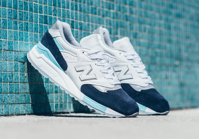 New Balance 998 Light Blue Navy