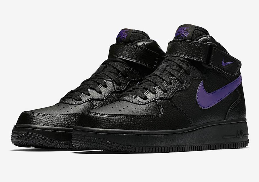 Nike Air Force 1 Mid Black Leather Pack