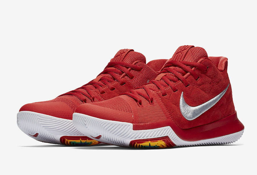 Nike Kyrie 3 University Red Suede 852395-601