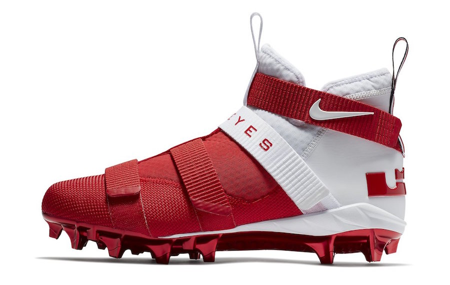 Ohio State Nike LeBron 11 Soldier Cleats AO9146-161