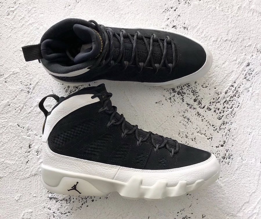 Air Jordan 9 IX LA Black Summit White Metallic Gold 2018 302370-021