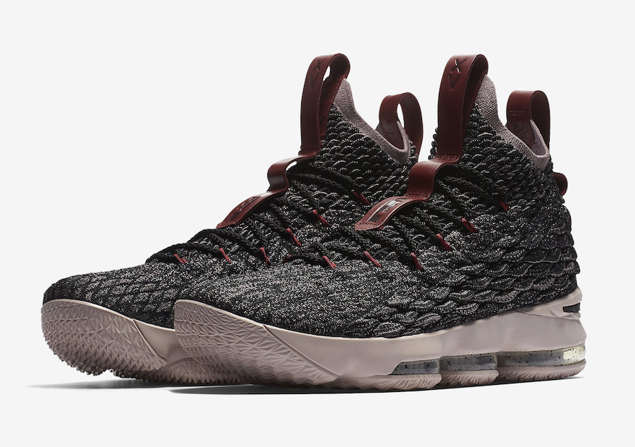 Nike LeBron 15 Taupe Grey Team Red Pride of Ohio 897648-003