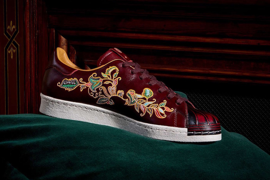 LTD Edition x adidas Superstar Burnished Burgundy
