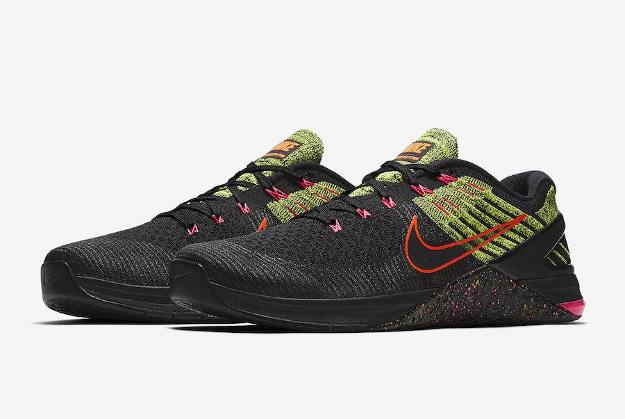 Nike Metcon DSX Flyknit Black Pink Volt 852930-014