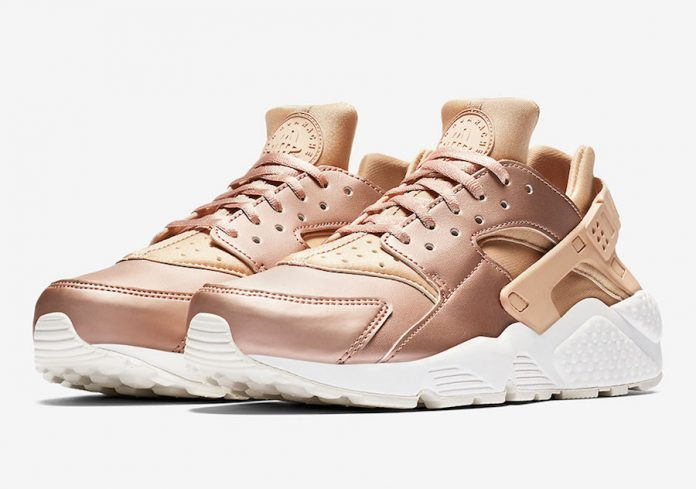 w air huarache rose