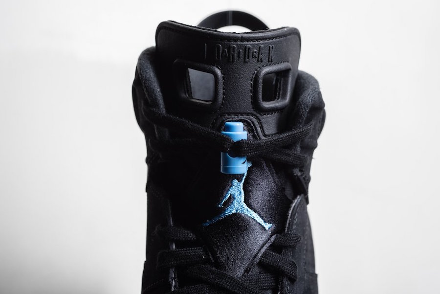 Air Jordan 6 Black Carolina Blue