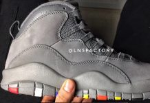 Cool Grey Air Jordan 10 Multicolor Rainbow Outsoles 310805-022
