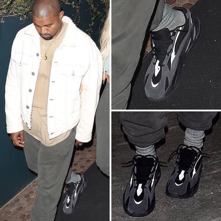 Kanye West Black Adidas Yeezy Wave Runner 700