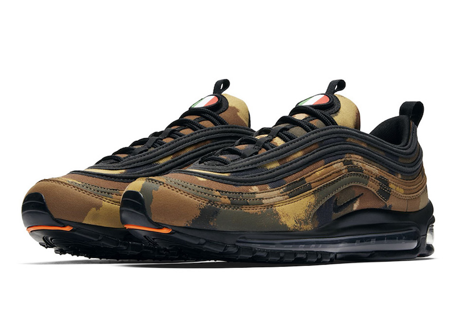 1644a474758 Release Date  December 2017. Nike Air Max 9 Country Camo Italy. Nike Air  Max 97 Camo Pack