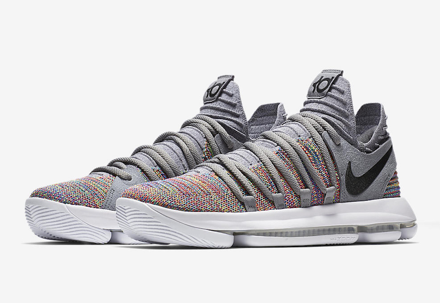 Nike KD 10 Multi-Color Black Cool Grey White 897815-900