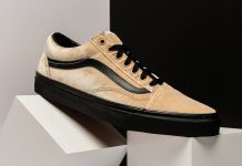 Vans Old Skool Velvet Tan Black